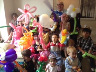 family events children's party balloon entertainer