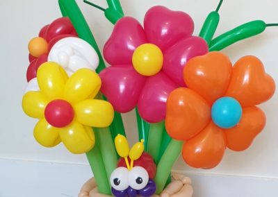 Danny Schlesinger balloon flower bouquet